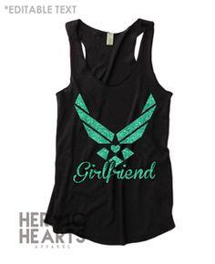 Air Force [Girlfriend] Heart Emblem Racerback Tank