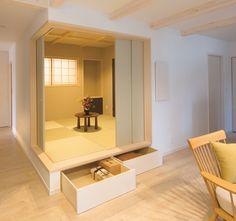 リビングと一体なった小上がりの和室。床下も収納空間になっています。|和室|インテリア|おしゃれ|自然素材|