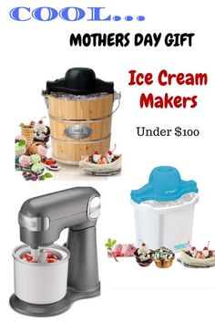 Ice Cream Maker Machines. Homemade Ice Cream. Gift for Mothers Day. #ad #mothersday #icecreammaker