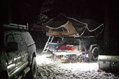 Roof Top Tent, Toyota Land Cruiser, 4x4, Vehicle, Photos, Pictures, Snow, Vehicles, Grimm