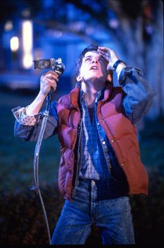 "Michael J. Fox as Marty McFly in ""Back to the Future"""