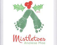 Your child's actual footprints footprint art by MyForeverPrints