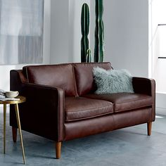 Hamilton Leather Loveseat