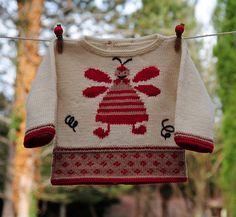 layette brassière mérinos 1 mois neuf tricoté main : Mode Bébé par com3pom