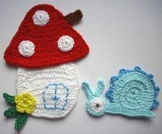 . Crochet Embellishments, Crochet Buttons, Cute Crochet, Crochet Motif, Crochet Flowers, Knit Crochet, Crochet Patterns, Crochet Hats, Application Pattern