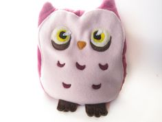 Pink Owl Heating Pad by Jasmindoodles via etsy