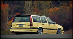 1995 Volvo T-5R  Has to be a wagon, a manual transmission and Cream yellow.