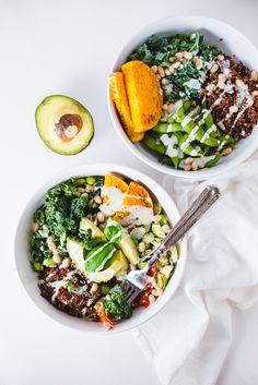 Rainbow veggie bowl