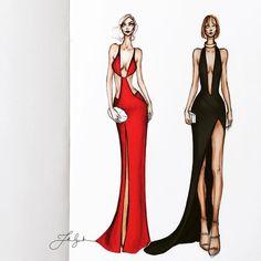 """좋아요 1,641개, 댓글 24개 - Instagram의 Thea Granath (@theagranath)님: """"@mirandakerr + @taylorswift  • • • • #fashionillustration #fashionillustrator #fashionsketch…"""""""