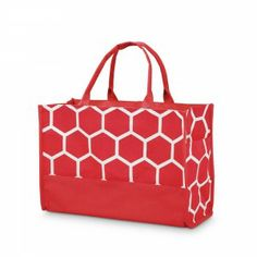 the bee line red open tote from buckhead betties! perfect for valentines day or teams with red! #buckheadbetties