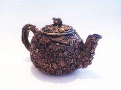 techno steampunk teapot by richardsymonsart on Etsy, $110.00