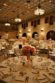 Christine and Mark take over the Hollywood Roosevelt Hotel for their wedding reception