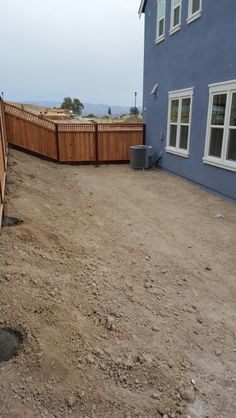 Backyard prior to landscaping