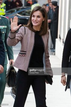 MADRID, SPAIN - APRIL 05: Queen Letizia of Spain attends a seminar on informative treatment of Disability in Social Networks on April 5, 2018 in Madrid, Spain. (Photo by Europa Press/Europa Press via Getty Images)