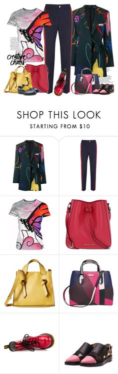 """""""Creative Chaos"""" by ysmn-pan ❤ liked on Polyvore featuring Paul Smith, Gucci, Armani Jeans, French Connection, Kate Spade, Dr. Martens, Toga and Jil Sander"""