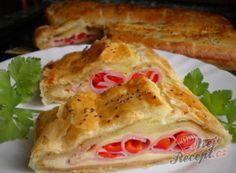 Recept Listový závin se sýrem, šunkou a paprikovými očky Ham, Sandwiches, Tacos, Mexican, Chicken, Ethnic Recipes, Food, Hampers, Hams