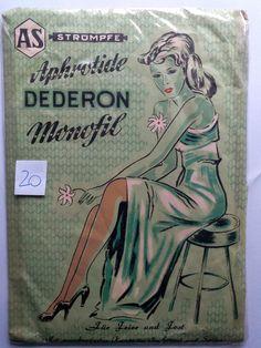 Alte Original DDR-Dederon-Damenstrümpfe  Aphrotide , Farbe:braun, Gr.9, OVP (20)