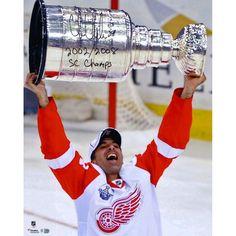 """Chris Chelios Detroit Red Wings Fanatics Authentic Autographed 16"""" x 20"""" Raising Stanley Cup Photograph with 2002/2008 SC Champs Inscription - $99.99"""