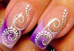 Chevron Nails, Striped Nails, Beautiful Nail Designs, Cool Nail Designs, Nail Art Diy, Cool Nail Art, Natural Nail Art, Sculptured Nails, Special Nails