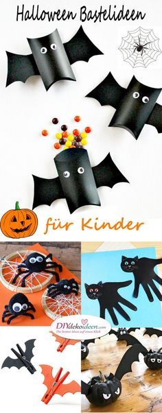 Halloween Craft Ideas for Kids - DIY Craft Ideas for the .- Halloween Craft Ideas for Kids – DIY Craft Ideas for the Whole Family - Kids Crafts, Halloween Crafts For Kids, Crafts To Sell, Halloween Decorations, Diy And Crafts, Arts And Crafts, Fete Halloween, Family Halloween Costumes, Happy Halloween
