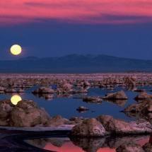 Moon over Mono Lake, California