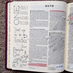 One Choice. Ruth 1. Draw Close Blog. Bible art, Bible journaling, illustrating faith, Bible study, devotion.