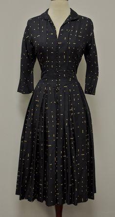 "1940's ""Best & Co"" Polka Dot Dress"