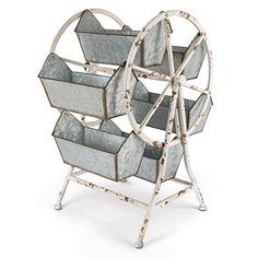 Lone Elm Metal Ferris Wheel Organizer, 16Inl x 13Inw x 21.65Inh, 2 Piece
