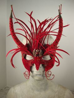 Red Heart Masquerade Mask by leopardsleap on Etsy, $110.00