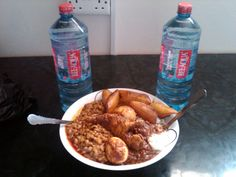 """""""Modern"""" Red Red Ghana Food, Sausage, African, Foods, Chicken, Cooking, Amazing, Modern, Red"""