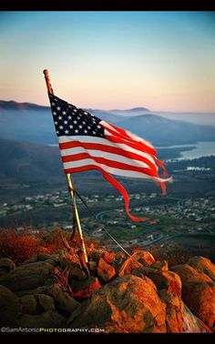 Sam Antonio Travel and Fine Art Photography at Top of San Miguel Mountain in San Diego, CA    ~ Remember to thank a veteran on Veterans Day ~   A tattered U.S. flag proudly waves from San Miguel Mountain in Chula Vista.