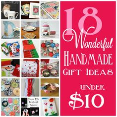 18 handmade gifts under $10 #skiptomylou