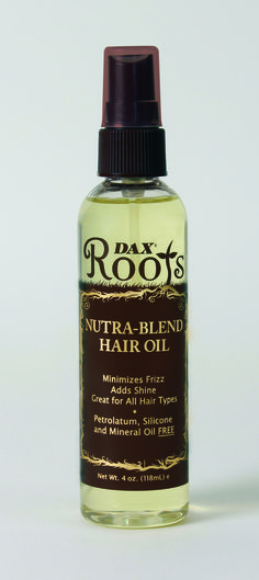 Dax ROOTS Nutra-Blend Hair Oil is a supreme daily leave-in elixir for dry thirsty hair. Nutra-Blend Hair Oil revitalizes, provides natural moisture, strength, and shine. Nutra-Blend Hair Oil enhances hair softness and reduces breakage; maximizing hair length. Infused with carefully selected naturally derived oils to help regenerate, rejuvenate and restore natural beauty to your hair. http://www.daxhaircare.com/store/dax-roots/nutra-blend-hair-oil/