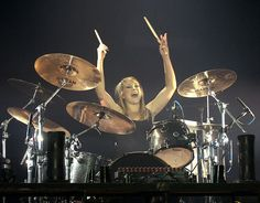 Jen Ledger ~ She makes me sad that I gave up drums in 5th grade...