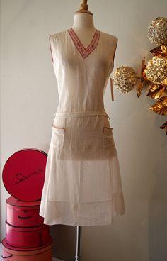 Vintage 1920s Dress // 20's White Cotton Tennis von xtabayvintage, $98.00