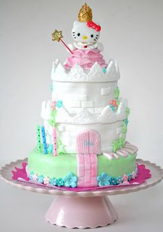 castle cake | Princess Hello Kitty castle cake | Flickr - Photo Sharing!