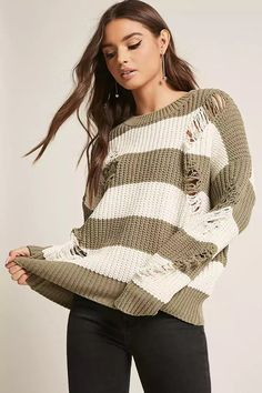 Product Name:Stripe Chenille Sweater, Category:sweater, Price:58