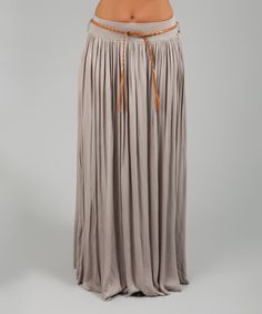 Look what I found on #zulily! Taupe Belted Kudrow Skirt #zulilyfinds