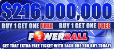 Play the biggest lottery in the world TODAY with us and get a FREE ticket for every one that you purchase. www.playlottoworld.com