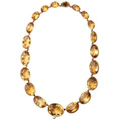 OLIVIA COLLINGS ANTIQUE JEWELRY  Gold & Citrine Large Riviere Necklace  $22,200.00