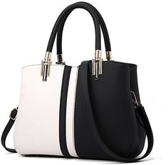 Amazon.com: Nevenka Purses and Handbags for Women Top Handle Bags Leather Satchel Totes Shoulder Bag from (Black): Clothing Soft Leather Handbags, Leather Satchel, Leather Purses, Pu Leather, Crossbody Tote, Womens Purses, Casual Bags, Purses And Handbags, Fall Handbags