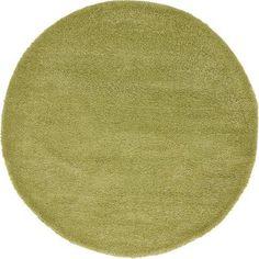 Unique Loom Calabasas Solo Rug, Green