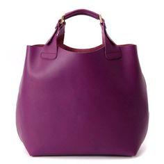 Violett-ZEN (purple) Leather Tote and Shoulder Handbag