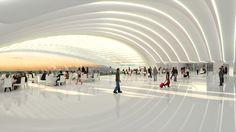 Santiago Calatrava's Denver International Airport Terminal interior rendering