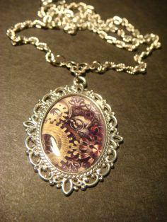 Steampunk Necklace with Gears in a Beautiful by ClockworkAlley, $18.00