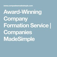 Award-Winning Company Formation Service | Companies MadeSimple