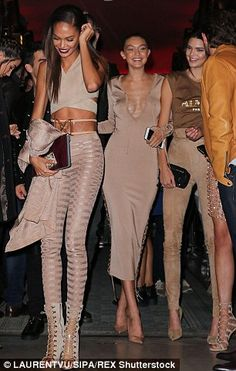 Party partners in crime: Joan, Gigi and Kendall (along with Lily, not pictured) were undou...