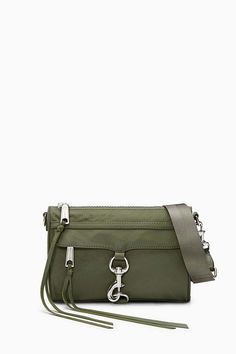 defe477ab Nylon Mini M.a.c. Crossbody - Green - Rebecca Minkoff Shoulder bags