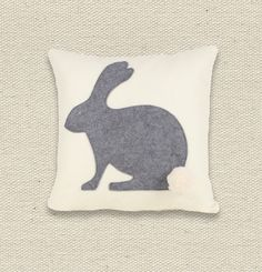 easter bunny felt pillow cover, ekofabrik, etsy