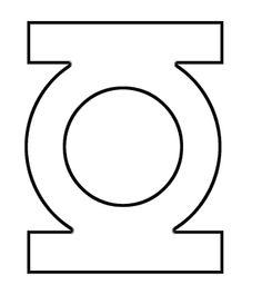 Robin Superhero Logo Template Green Lantern Stencil